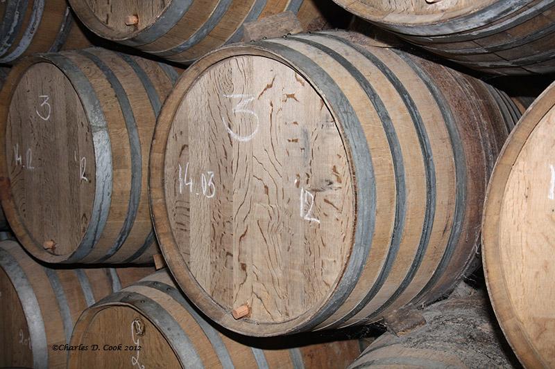 Photo of barrels at 3 Fonteinen