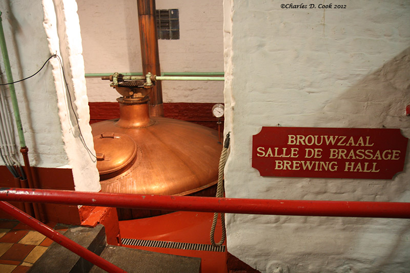 Copper boiling kettle, Brouwerij Timmermans.