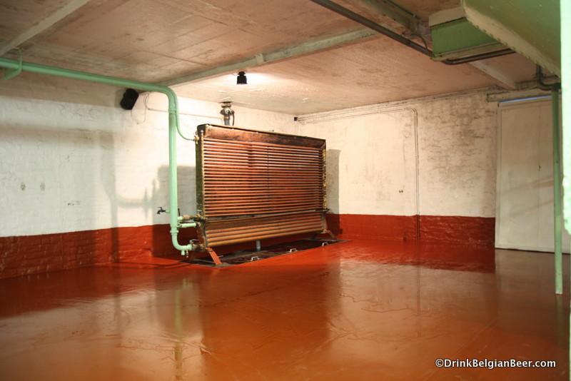 An old baudelot heat exchanger, no longer in use.