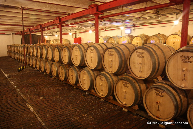 Barrels at Brouwerij Timmermans.