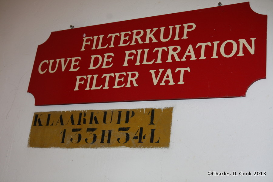 Filtration vessel plaque, Brouwerij Timmermans.