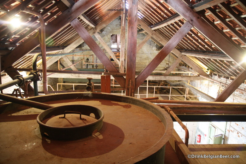 Photo of top floor of museum brewery Brouwerij De Kroon