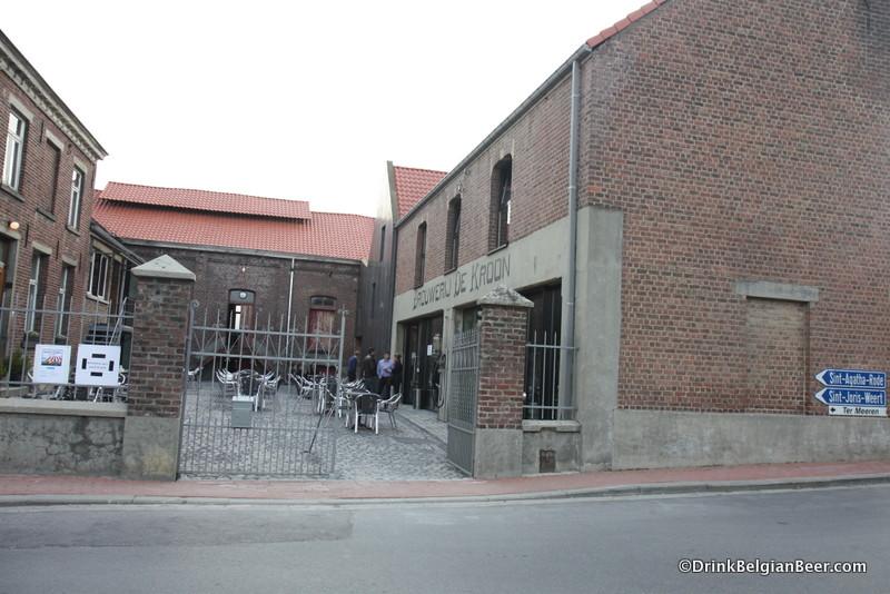 Photo of entrance to Brouwerij De Kroon