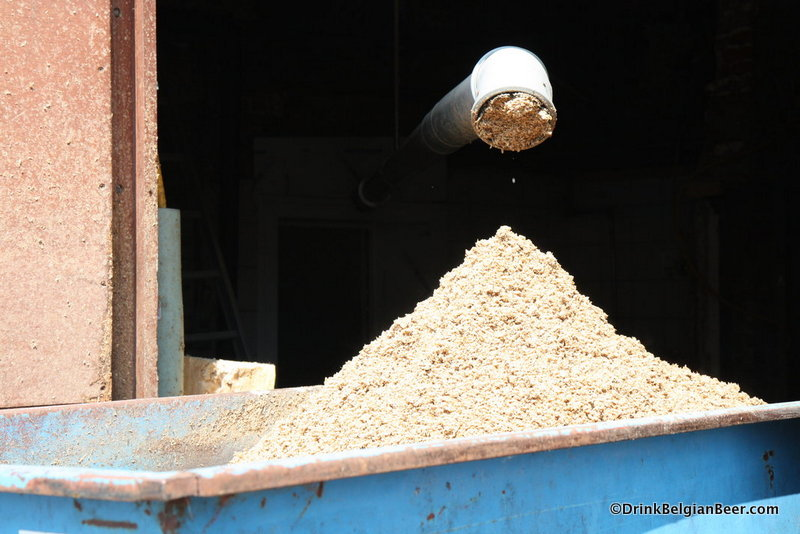 Photo of spent grain at Brasserie Dupont