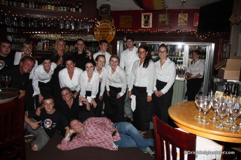 Photo of staff at Ebenezer's Belgian Fest
