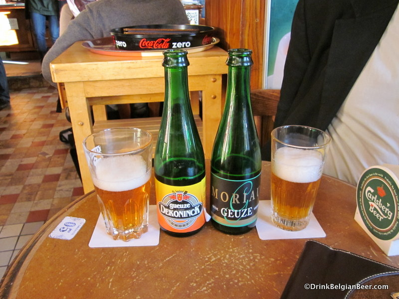 Gueuze De Koninck and Moriau Oude Geuze, now brewed at Boon.