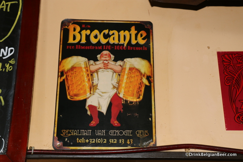 An old sign at La Brocante.