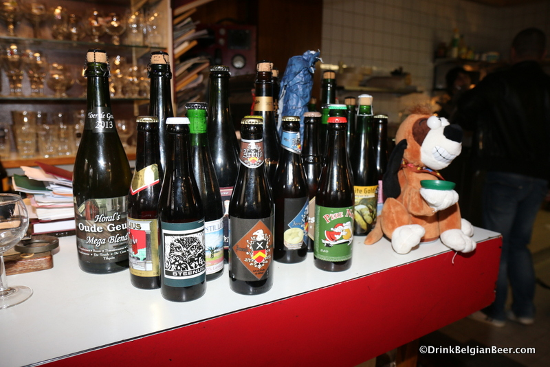 Some of the beers on offer at La Brocante.