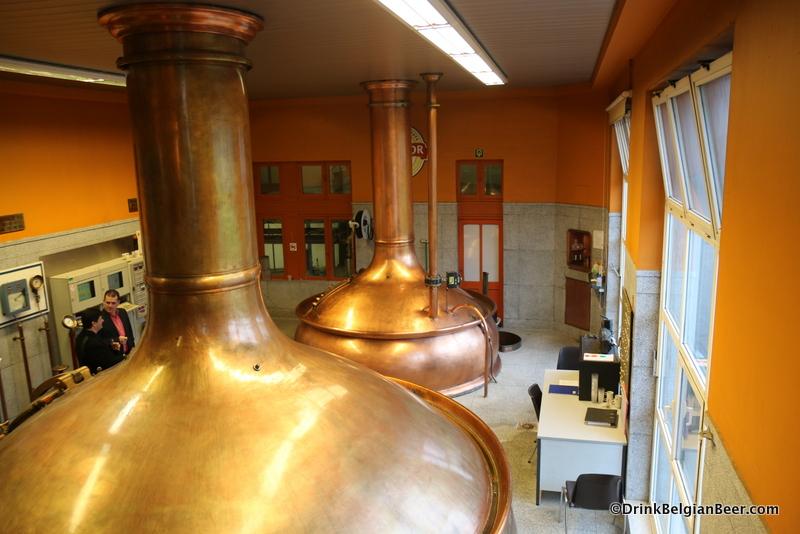 Beautiful copper brewhouse, Brouwerij Bockor.