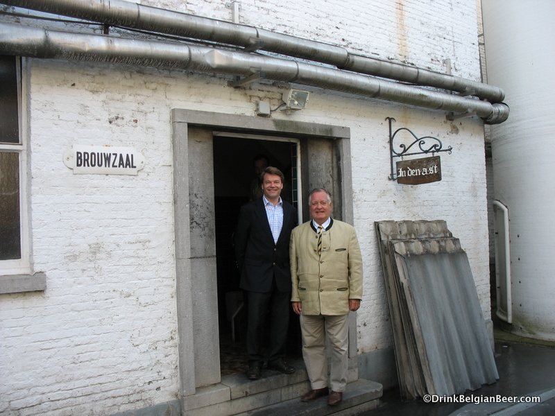 Antoine and Ivo Bosteels outside their brewhouse in Buggenhout.