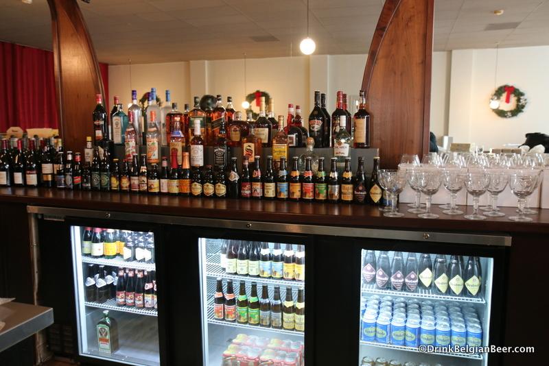 Behind the bar at De Kleine Duivel.
