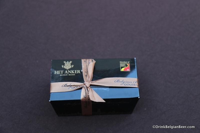 A 250 gram box Het Anker beer chocolates.