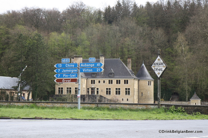 Road signs near the Abbey of Orval.