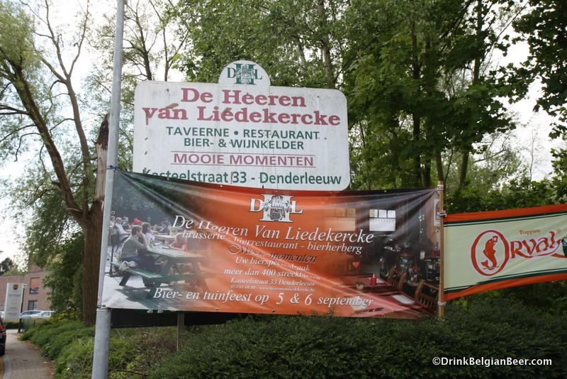 You will definitely know when you have arrived at De Heeren van Liedekercke.