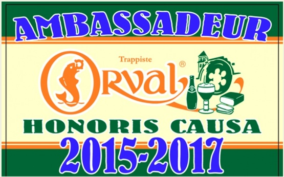 The Honorary Orval Ambassador label for 2015-2017.