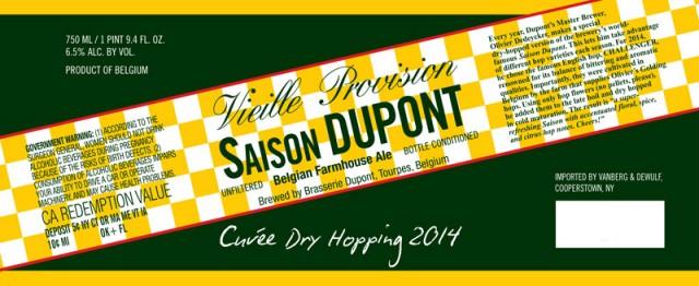 Saison Dupont Cuvee 2014 Dry Hopping