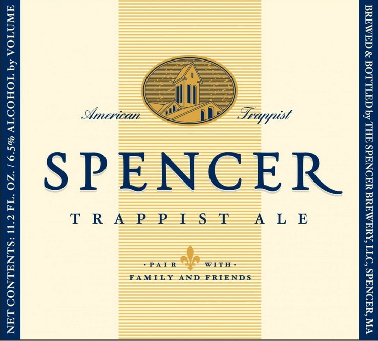 The label of the Spencer Trappist ale.
