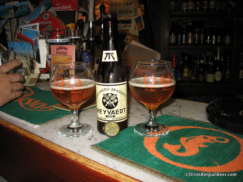 A 1970's Brouwerij Heyvaert beer. It was a blend of golden ale and lambic. Taken from the Bodega cellar and savored at Kulminator.
