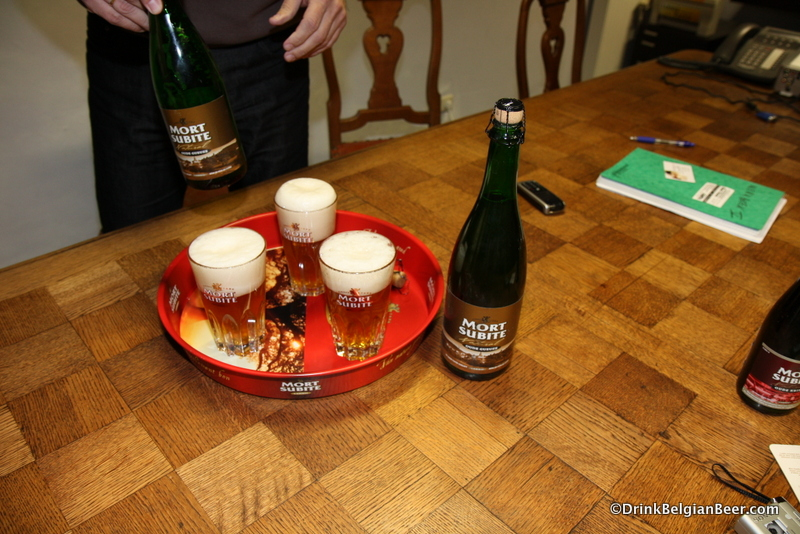 A tray full of Oude Gueuze. I think one of those is for me....