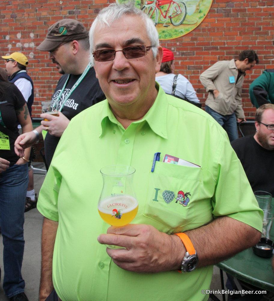 Chris Bauweraerts, co-founder, Brasserie D' Achouffe, enjoying a beer.