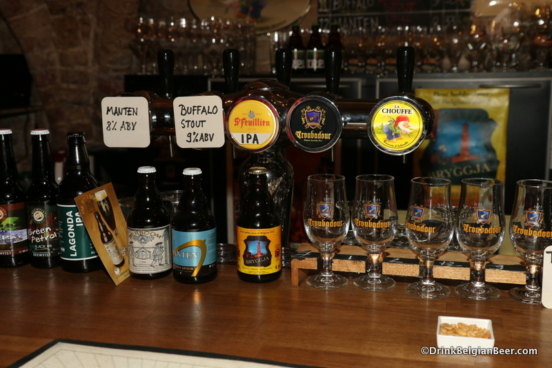 Some of the beers on draft at Le Trappiste on April 22.