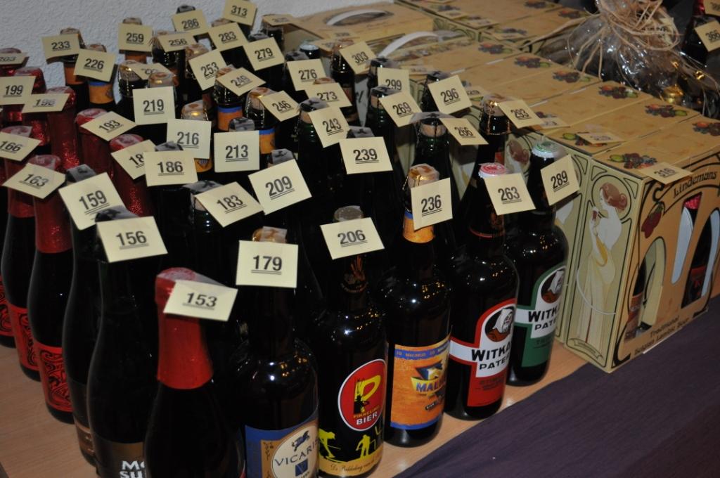 Bottled beer from a past Lambikstoempers Beer Weekend.