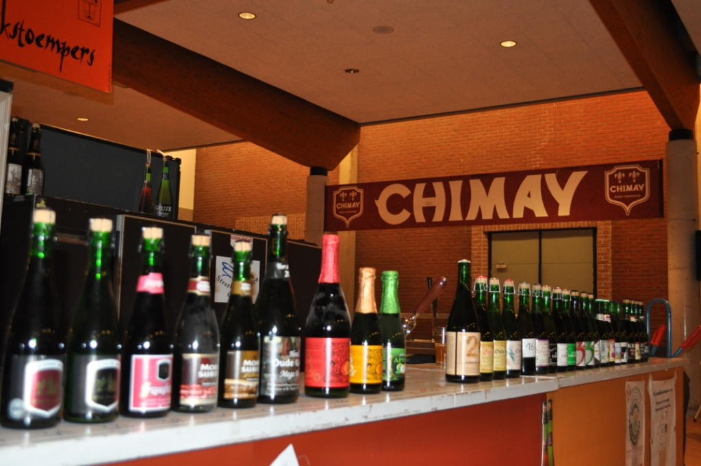 Photo of some bottled beers on offer at a past Lambikstoempers Beer Weekend,