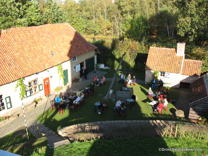 The view from the windmill of Cafe De Pandoerenhoeve.