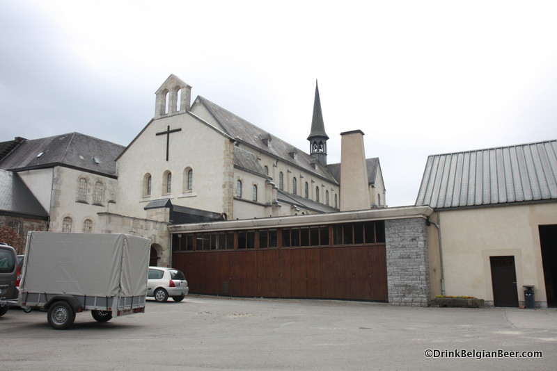 The church at l' Abbaye Notre Dame de St-Remy near the town of Rochefort, Namur Province.
