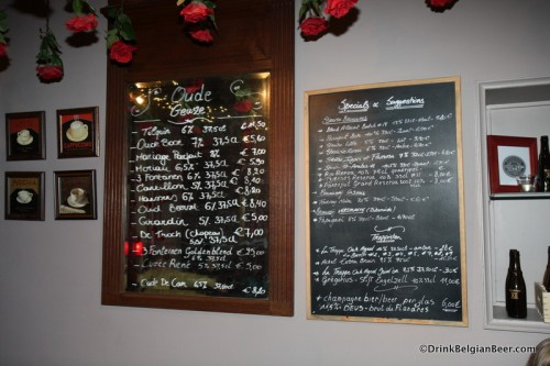 Cafe Rose Red, a great Bruges bar