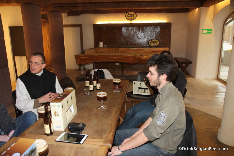 No, we haven't forgotten about beer. Here's a shot taken after the tour inside a small tasting room near the Rochefort brewery.