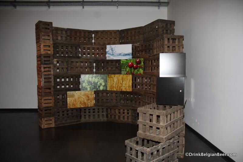 An exhibit inside De Lambiek.