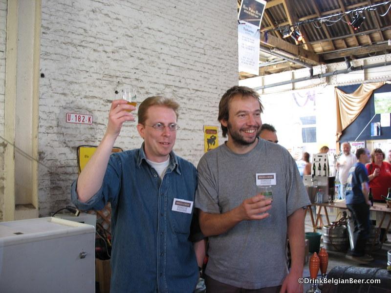 Yvan de Baets, left, and Bernard Leboucq, Brasserie de la Senne.