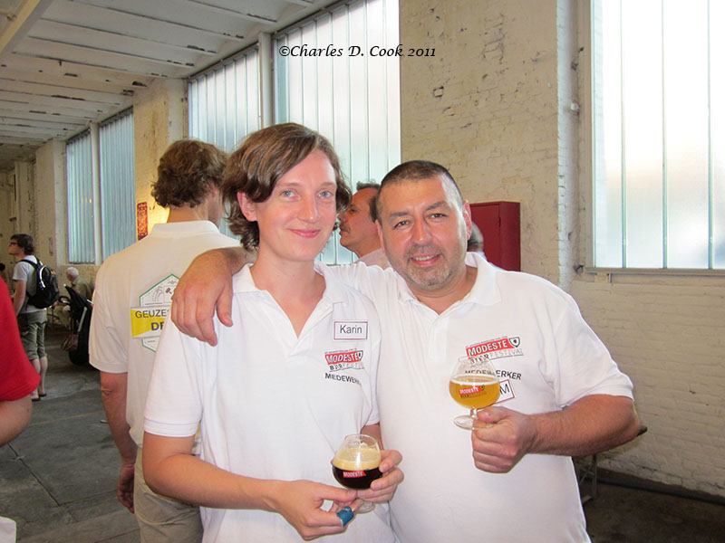 Festival workers taking a break. It's a fun beer event!