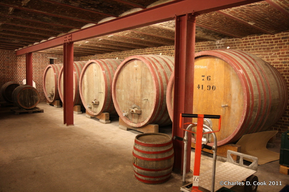 Another shot of the foeder room at Oud Beersel. This one is from 2011.