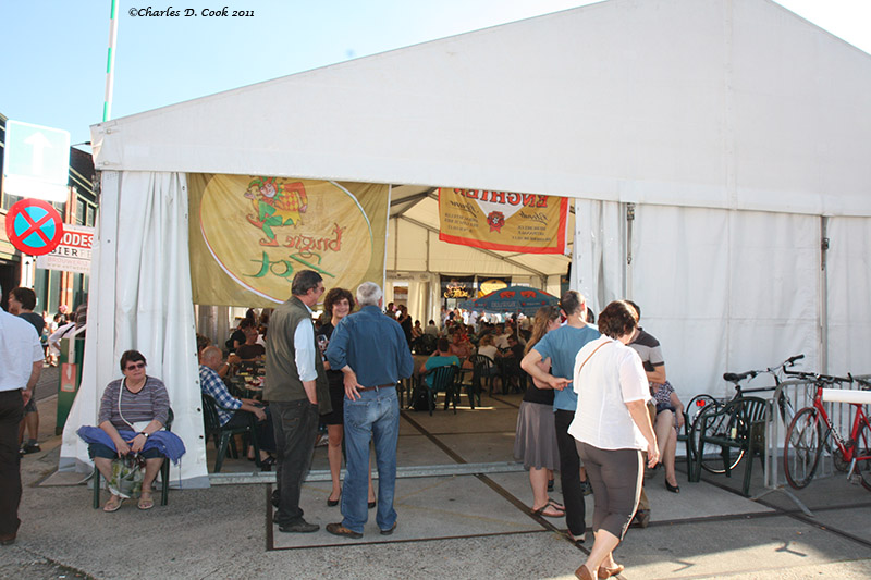 One of the Modeste Beer Festival tents. It was nice weather in 2011!