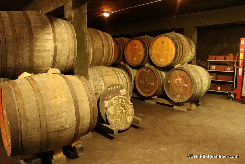 Another shot in one of the older barrels rooms at Oud Beersel.