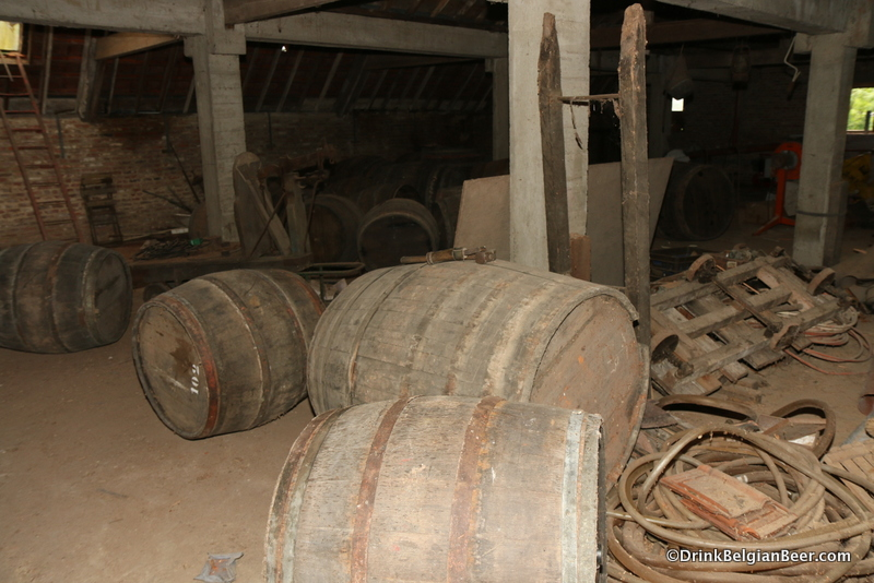 Some old barrels in the attic of Oud Beersel. August 30, 2014.