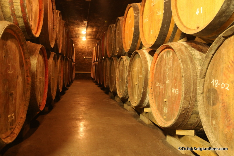 A shot in one of the older barrels rooms at Oud Beersel, August 2014.