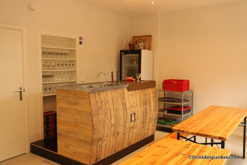 A new private tasting room at Oud Beersel, used for post-tour tastings and more.