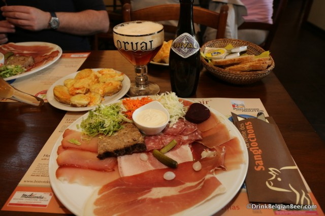 La Ferme de Sanglochons: a pork lover's heaven, with beer
