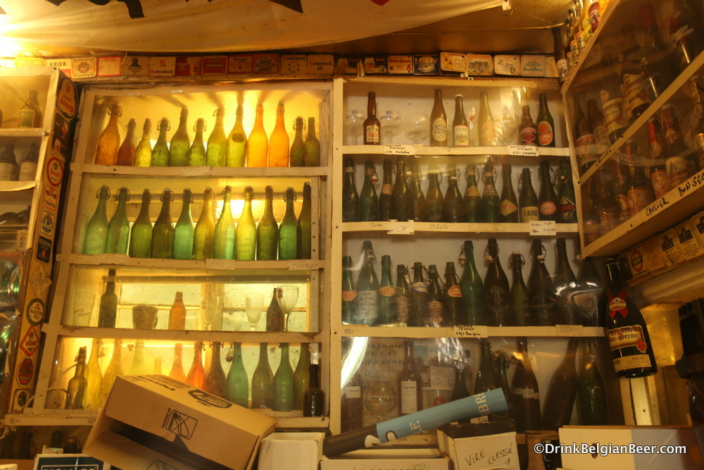 More old beer bottles. Bottles, glasses and other breweriana cover every open space in the museum.