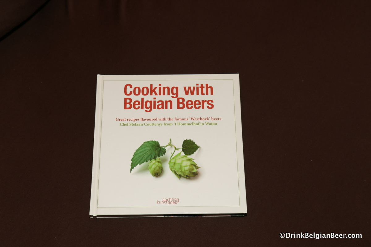 "The cover of ""Cooking with Belgian Beers"" by Stefaan Couttenye."