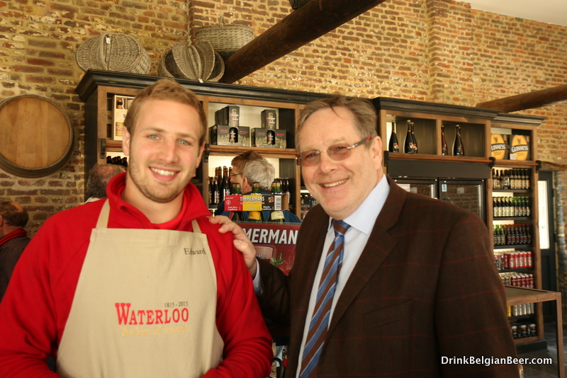 Anthony Martin (left) with son Martin, one of the brewers at Brasserie Waterloo.