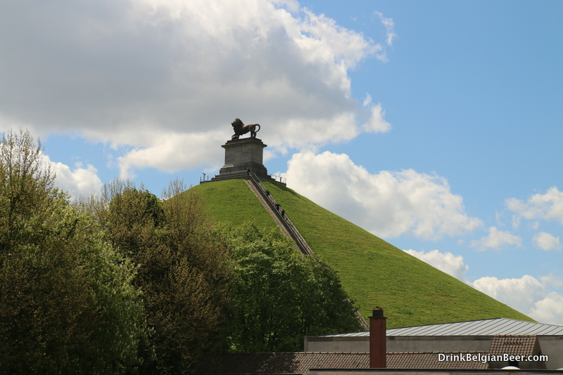 The famous Lion Mound, commemorating the victory of the English and their allies over Napoleon at Waterloo, June 18, 1815.