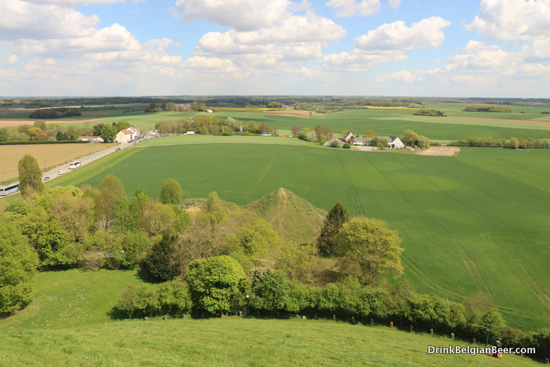 A view of part of the Waterloo battlefield from the Lion Mound.
