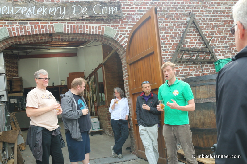 Karel Goddeau of Geuzestekerij De Cam outside his lambic blendery.