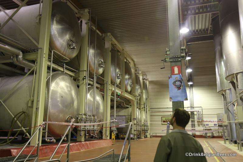 Large fermenters at Brouwerij Mort Subite.