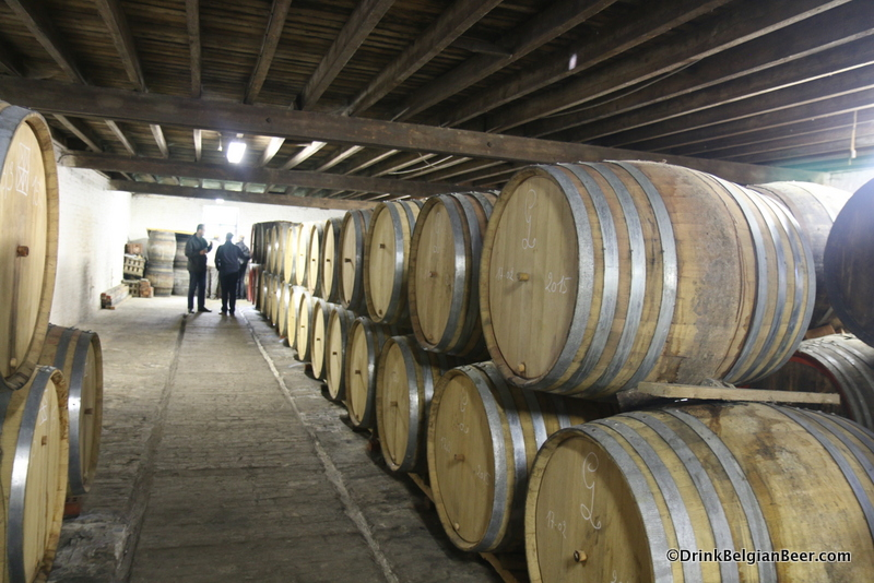 A row of newer barrels at Hanssens.