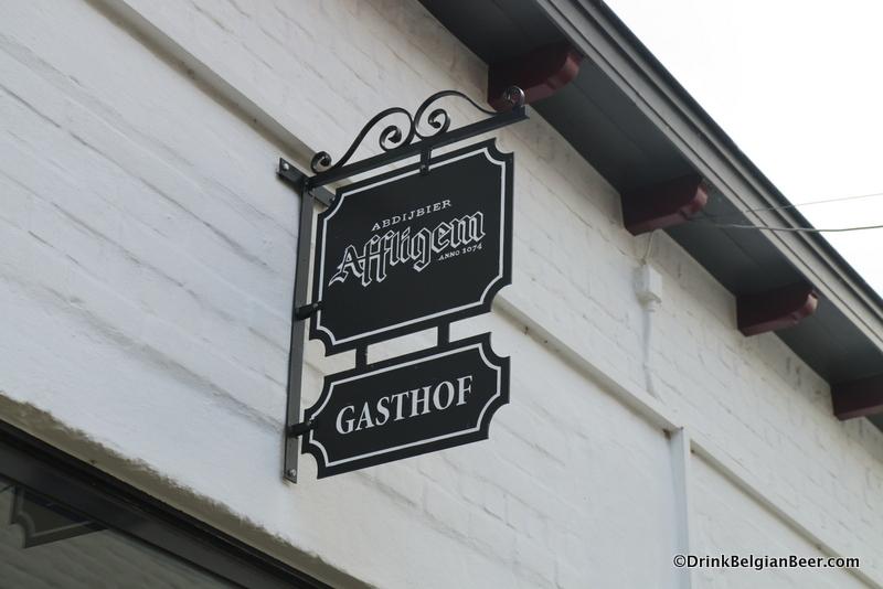 Sign at Gasthof d'Oude Brouwerij at Affligem.